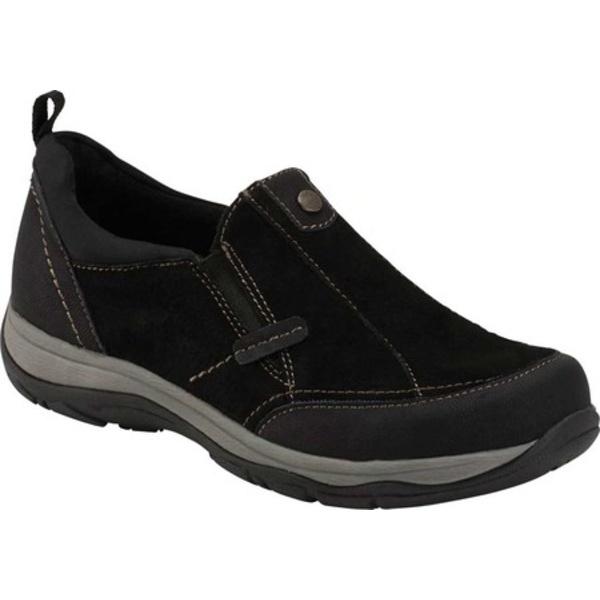 アースオリジン レディース スニーカー シューズ Luci Luciana Slip On Sneaker Black Suede/Textile