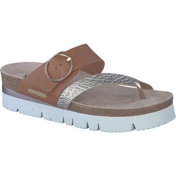 メフィスト レディース サンダル シューズ Vik Toe Loop Sandal Gold Luna/Sandanyl Leather