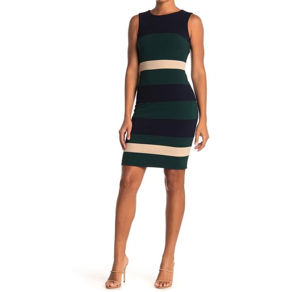 トミー ヒルフィガー 超特価SALE開催 レディース トップス ワンピース SK CAP Dress Crepe Colorblock CYP 全商品無料サイズ交換 Stripe 本日限定 Sheath