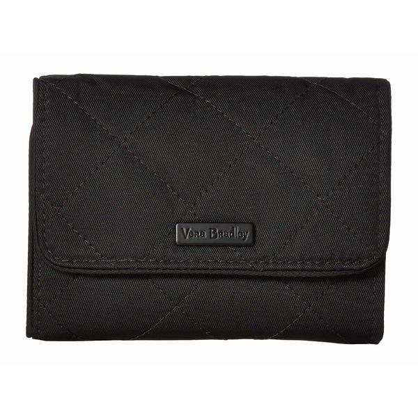 ベラブラッドリー レディース 財布 アクセサリー Performance Twill Iconic RFID Riley Compact Wallet Black