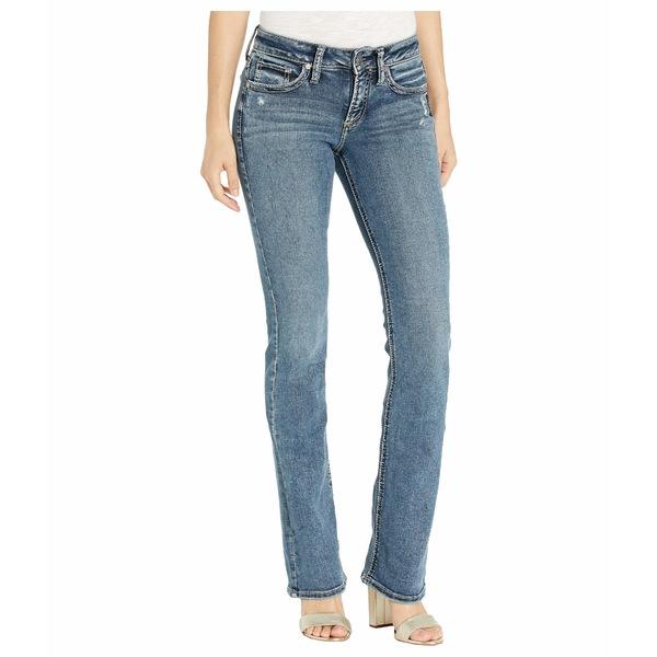 シルバージーンズ レディース デニムパンツ ボトムス Suki Mid-Rise Curvy Fit Slim Bootcut Jeans in Indigo L93606SDG366 Indigo