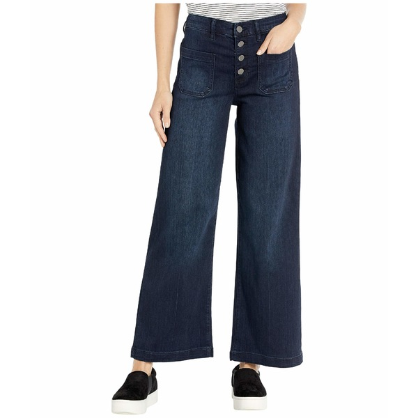 リバプール レディース デニムパンツ ボトムス Regan High-Rise Wide Leg Exposed Button Jeans in Sabina Sabina
