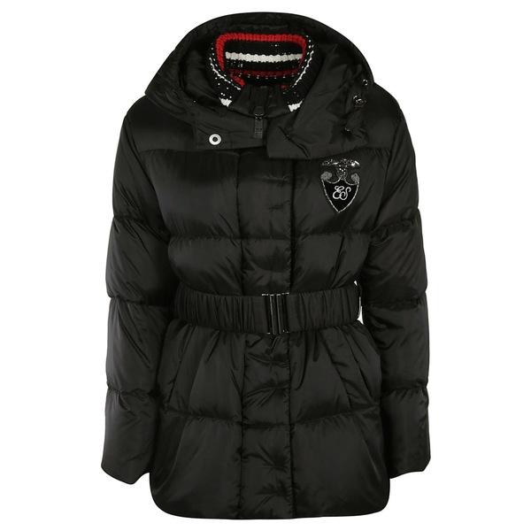 エルマンノ シェルヴィーノ レディース ジャケット&ブルゾン アウター Ermanno Scervino Belted Waist Padded Jacket black