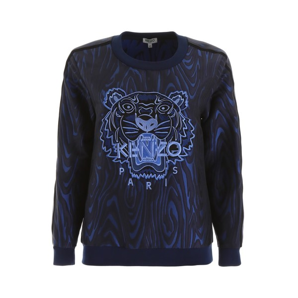 ケンゾー レディース パーカー・スウェットシャツ アウター Kenzo Jacquard Sweatshirt BLEUMARINEBlue