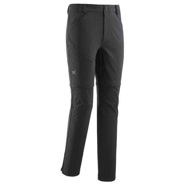 オンライン限定商品 ミレー メンズ ボトムス 豊富な品 カジュアルパンツ Black 全商品無料サイズ交換 Millet II Trekker Stretch Off riia014c Zip