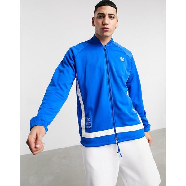 新版 アディダスオリジナルス メンズ ジャケット&ブルゾン アウター adidas Originals warm up track jacket in blue Blue, ヒガシカガワシ 5215c008