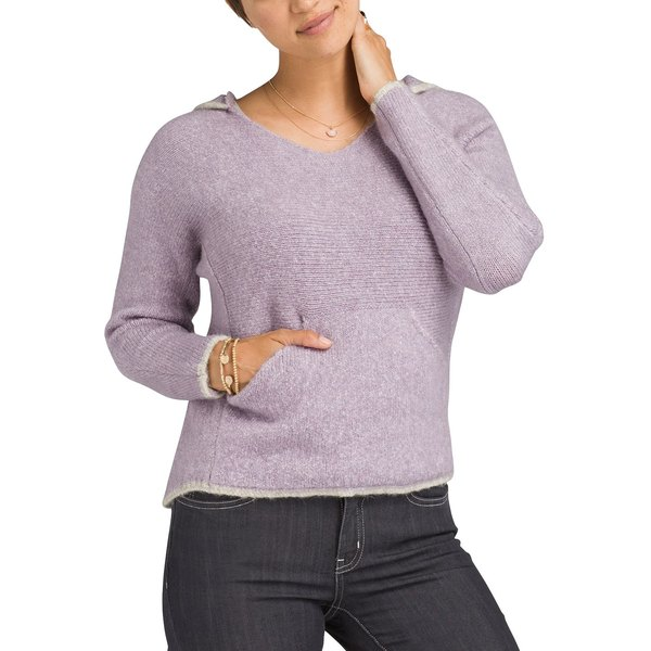 プラーナ レディース シャツ トップス prAna Women's Shine On Hooded Sweater MoonstoneHeather