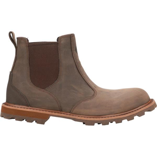 ムックブーツ メンズ スニーカー シューズ Muck Boots Men's Leather Chelsea Boots Brown
