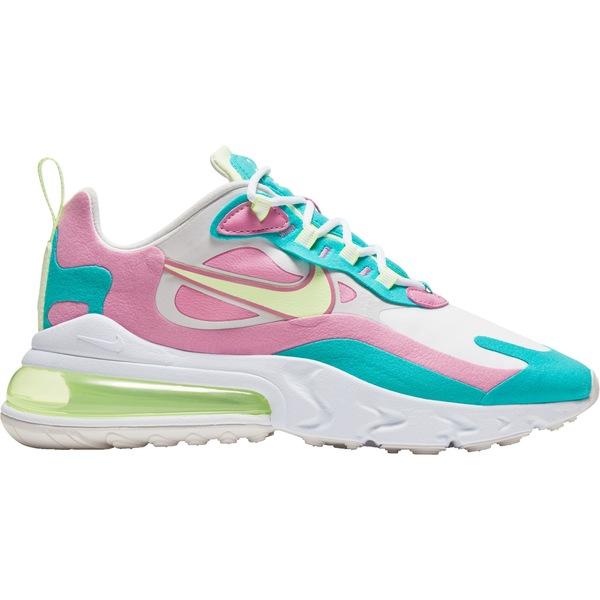 ナイキ レディース スニーカー シューズ Nike Women's Air Max 270 React Shoes White/Volt/Aqua/Flamingo