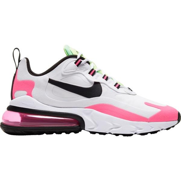 ナイキ レディース スニーカー シューズ Nike Women's Air Max 270 React Shoes Wht/Blk/HyprPink/GhstGrn