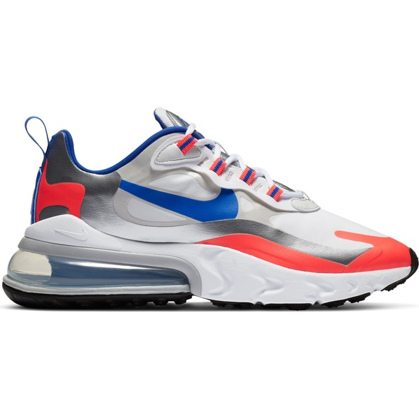ナイキ レディース スニーカー シューズ Nike Women's Air Max 270 React Shoes Wht/RcerBlu/FlashCrmsn
