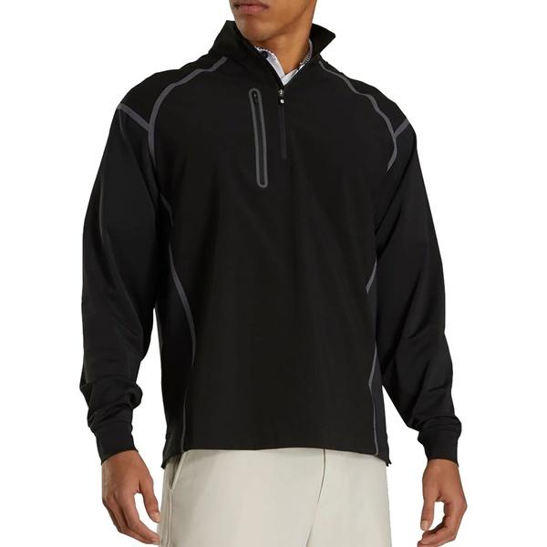 フットジョイ メンズ ジャケット&ブルゾン アウター FootJoy Men's WindTech Golf Pullover Black/Charcoal