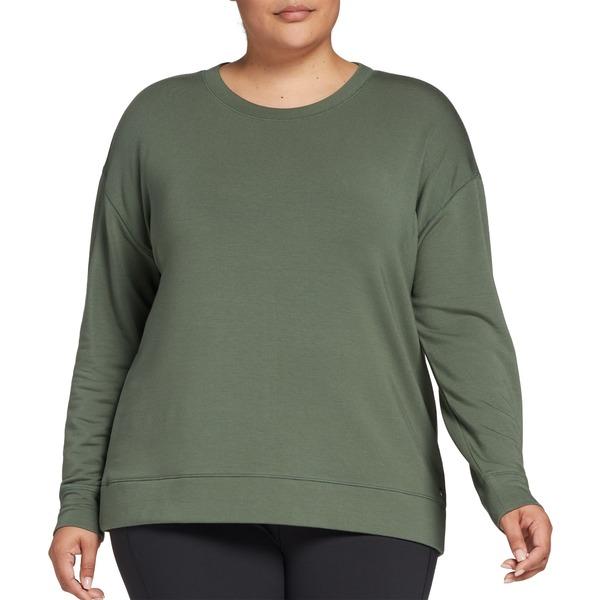 カリア レディース シャツ トップス CALIA by Carrie Underwood Women's Plus Size Effortless Keyhole Sweater Thyme