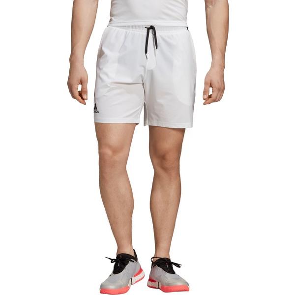 アディダス メンズ カジュアルパンツ ボトムス adidas Men's Club Stretch Woven Tennis Shorts White