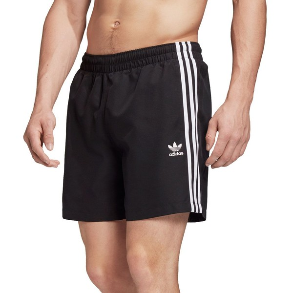 アディダス メンズ カジュアルパンツ ボトムス adidas Men's 3-Stripe Woven Training Shorts Black