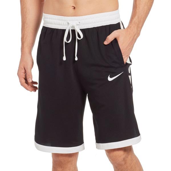 ナイキ メンズ カジュアルパンツ ボトムス Nike Men's Dry Elite Stripe Basketball Shorts (Regular and Big & Tall) Black/White