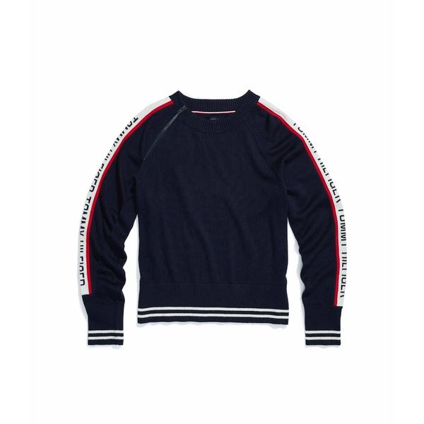 Crew Masters Neck アウター レディース Sweater トミーヒルフィガー ニット&セーター Logo Navy/Multi