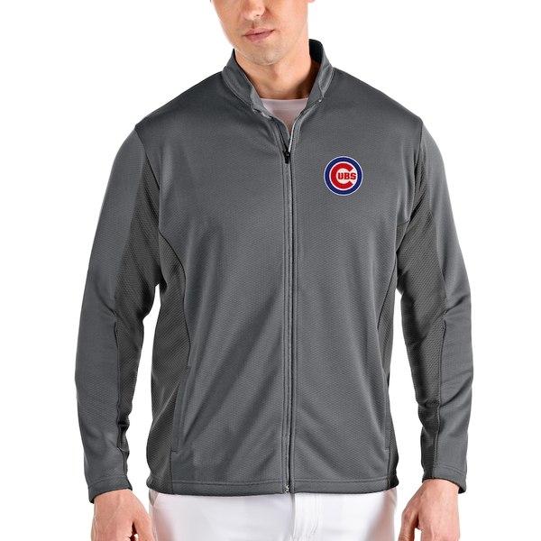 アンティグア メンズ ジャケット&ブルゾン アウター Chicago Cubs Antigua Passage Full-Zip Jacket Gray