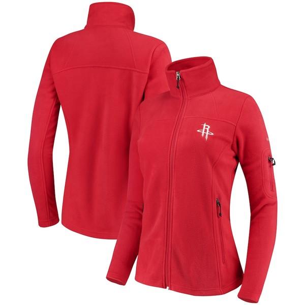 コロンビア レディース ジャケット&ブルゾン アウター Houston Rockets Columbia Women's Give & Go Full-Zip Jacket Red