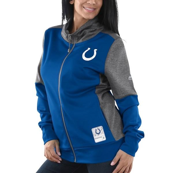 マジェスティック レディース ジャケット&ブルゾン アウター Indianapolis Colts Majestic Women's Speed Fly Lightweight Full-Zip Fleece Jacket Royal