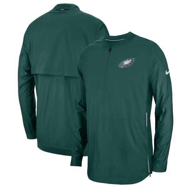 ナイキ メンズ ジャケット&ブルゾン アウター Philadelphia Eagles Nike Sideline Lockdown Quarter-Zip Jacket Midnight Green