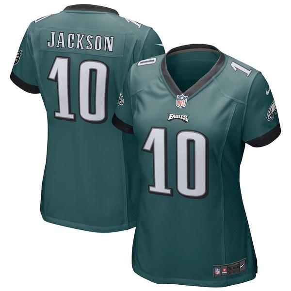 ナイキ レディース シャツ トップス DeSean Jackson Philadelphia Eagles Nike Women's Game Jersey Midnight Green