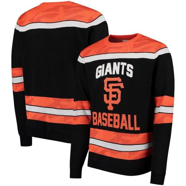 フォコ メンズ シャツ トップス San Francisco Giants Camouflage Team Sweater Black
