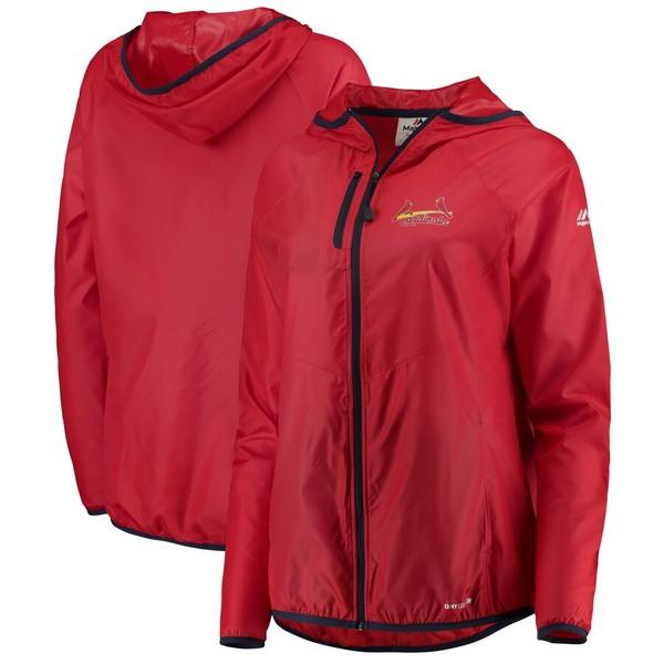 マジェスティック レディース ジャケット&ブルゾン アウター St. Louis Cardinals Majestic Women's Absolute Dominance Full-Zip Jacket Red
