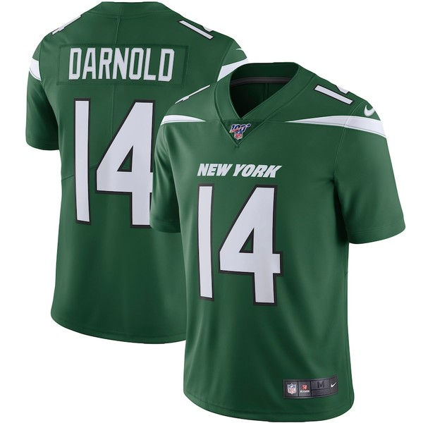 ナイキ メンズ シャツ トップス Sam Darnold New York Jets Nike NFL 100 Vapor Limited Jersey Gotham Green
