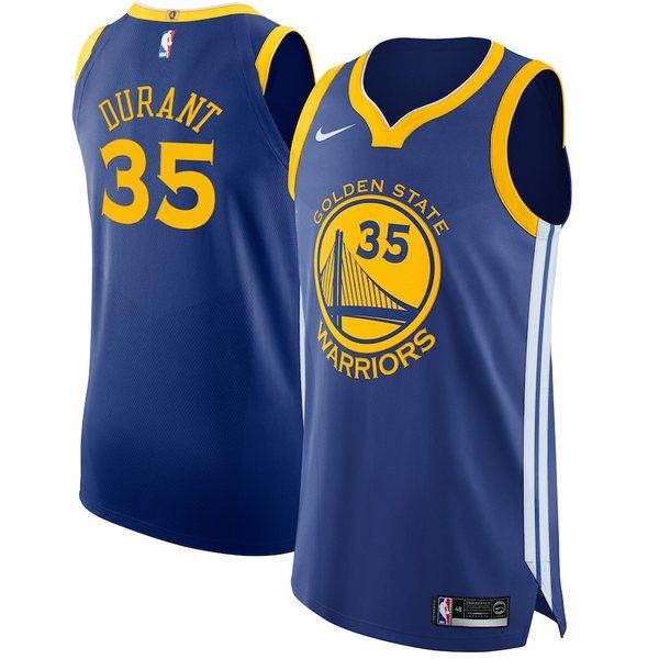 ナイキ メンズ シャツ トップス Kevin Durant Golden State Warriors Nike Authentic Jersey Royal Icon Edition