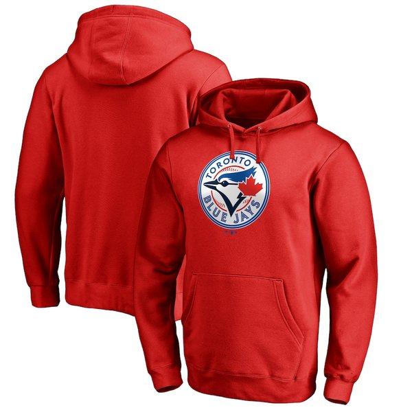 ファナティクス メンズ パーカー・スウェットシャツ アウター Toronto Blue Jays Fanatics Branded Team Wordmark Pullover Hoodie Red