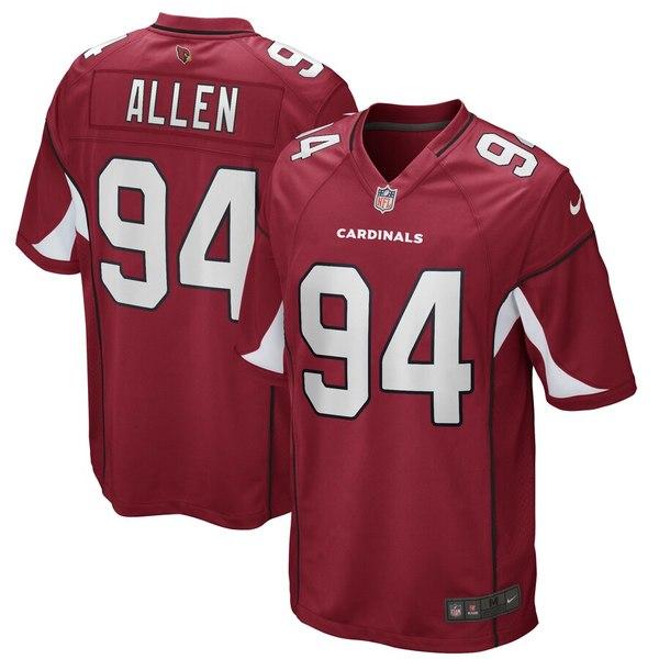 ナイキ メンズ シャツ トップス Zach Allen Arizona Cardinals Nike Game Player Jersey Cardinal