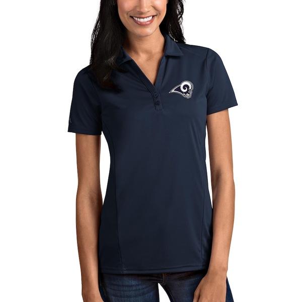 アンティグア レディース ポロシャツ トップス Los Angeles Rams Antigua Women's Tribute Polo Navy