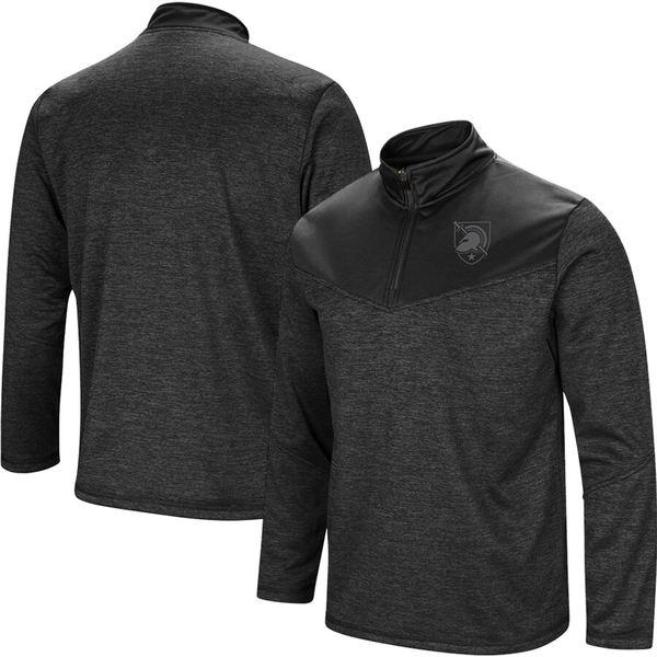 コロシアム メンズ ジャケット&ブルゾン アウター Army Black Knights Colosseum Blackout Quarter-Zip Pullover Jacket Heathered Black