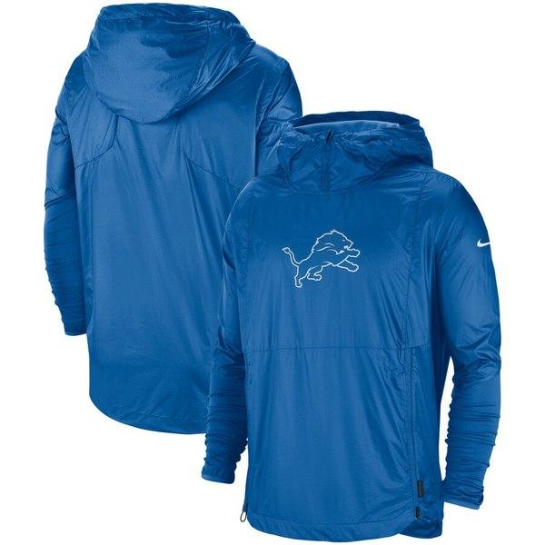 ナイキ メンズ ジャケット&ブルゾン アウター Detroit Lions Nike Sideline Repel Player Pullover Jacket Blue