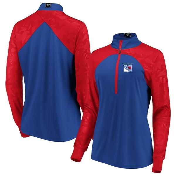 ファナティクス レディース ジャケット&ブルゾン アウター New York Rangers Fanatics Branded Women's Rookie Sensation Quarter-Zip Pullover Jacket Blue/Red