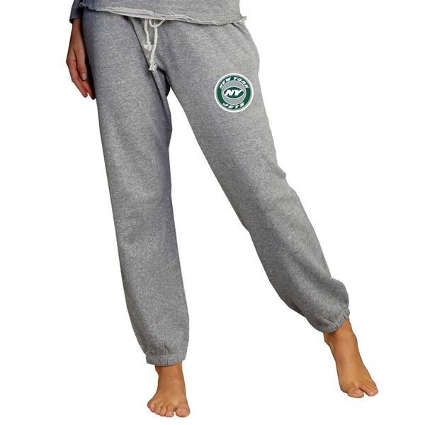 コンセプトスポーツ レディース カジュアルパンツ ボトムス New York Jets Concepts Sport Women's Mainstream Jogger Pants Gray