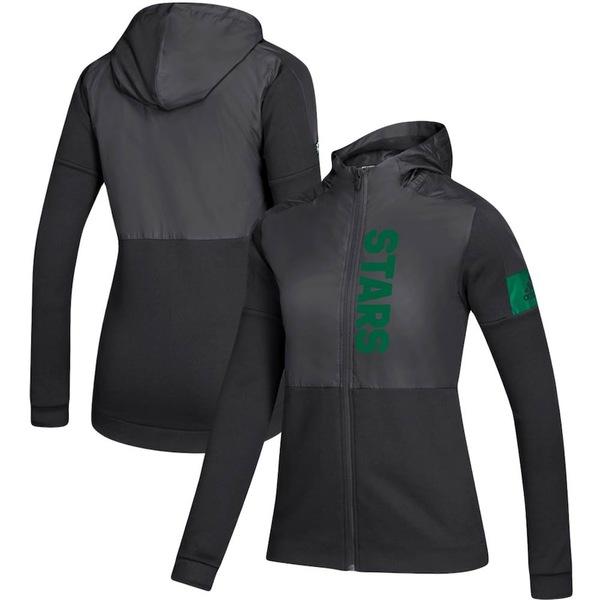 アディダス レディース ジャケット&ブルゾン アウター Dallas Stars adidas Women's Game Mode Full-Zip Jacket Black