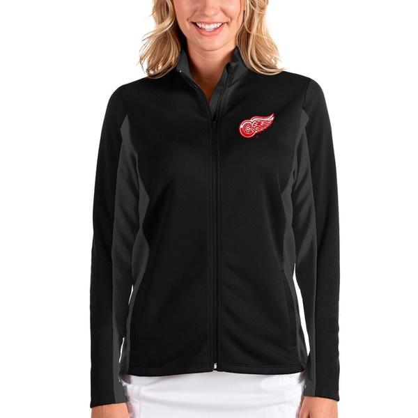 アンティグア レディース ジャケット&ブルゾン アウター Detroit Red Wings Antigua Women's Passage Full-Zip Jacket Black/Charcoal