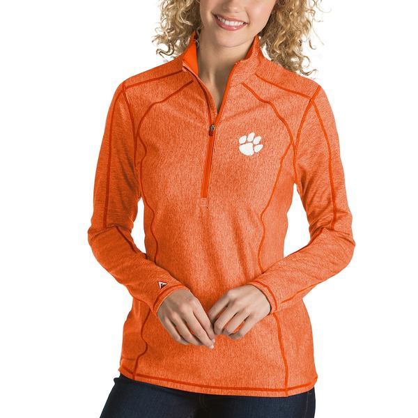 アンティグア レディース ジャケット&ブルゾン アウター Clemson Tigers Antigua Women's Tempo 1/4-Zip Desert Dry Pullover Jacket Orange