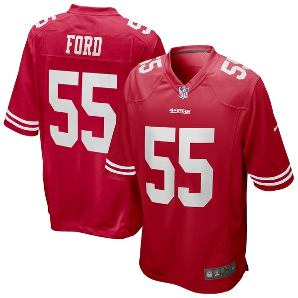 ナイキ メンズ シャツ トップス Dee Ford San Francisco 49ers Nike Game Jersey Scarlet