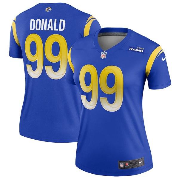 ナイキ レディース シャツ トップス Aaron Donald Los Angeles Rams Nike Women's Legend Jersey Royal