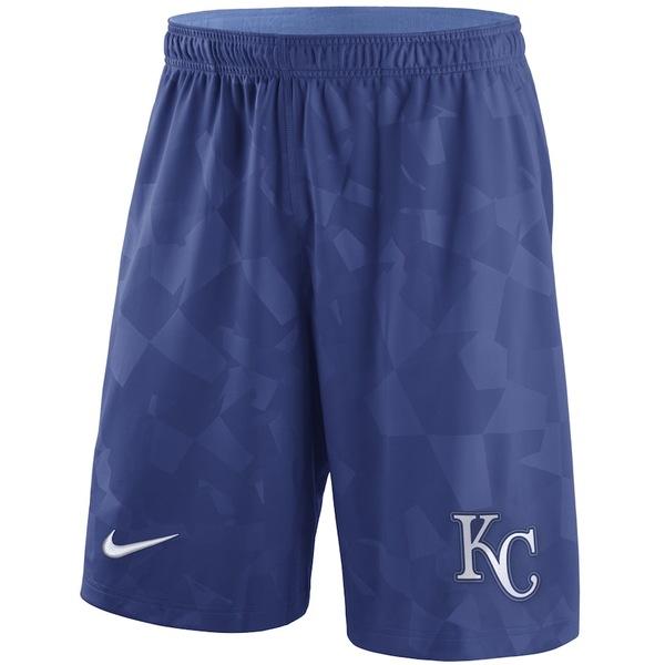 ナイキ メンズ ハーフ&ショーツ ボトムス Kansas City Royals Nike Knit Shorts Royal
