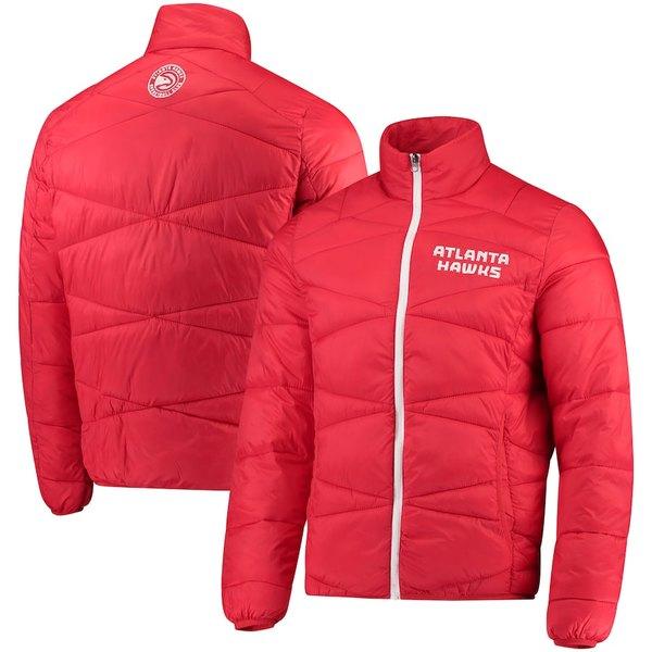 カールバンクス メンズ ジャケット&ブルゾン アウター Atlanta Hawks G-III Sports by Carl Banks Blitz Full-Zip Packable Jacket Red