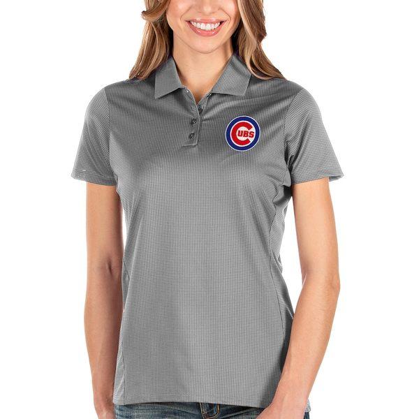 アンティグア レディース ポロシャツ トップス Chicago Cubs Antigua Women's Balance Polo Gray