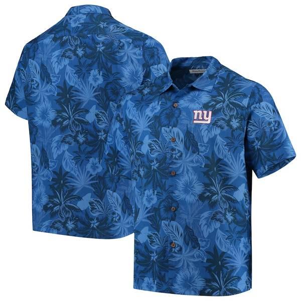 トッミーバハマ メンズ シャツ トップス New York Giants Tommy Bahama Fuego Floral Team Woven Button-Up Shirt Royal