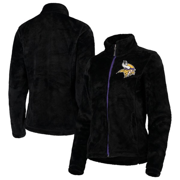 カールバンクス レディース ジャケット&ブルゾン アウター Minnesota Vikings G-III 4Her by Carl Banks Women's Goal Line Full-Zip Jacket Black