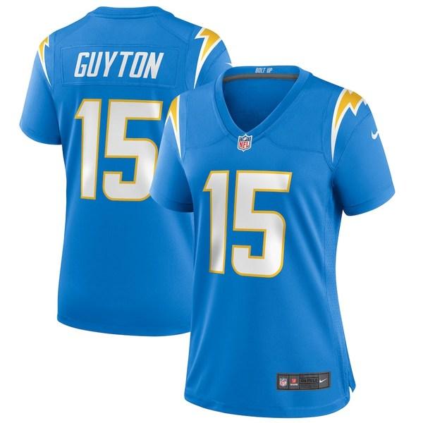 ナイキ レディース シャツ トップス Jalen Guyton Los Angeles Chargers Nike Women's Player Game Jersey Powder Blue