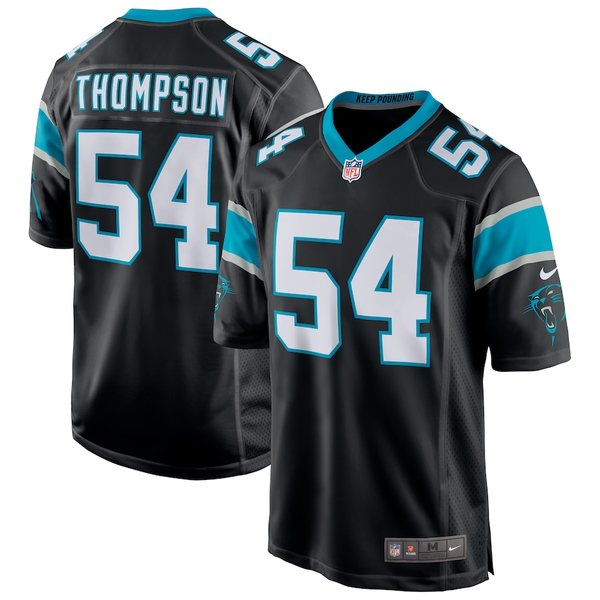 ナイキ メンズ シャツ トップス Shaq Thompson Carolina Panthers Nike Game Jersey Black