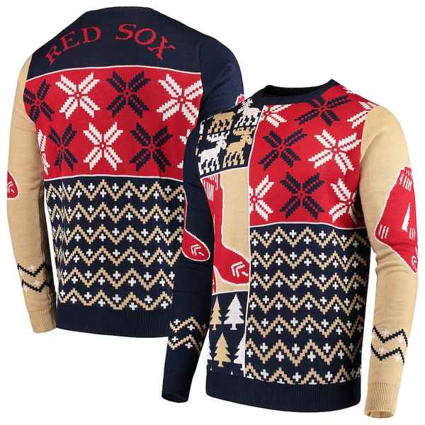 フォコ メンズ シャツ トップス Boston Red Sox Retro Sweater Navy